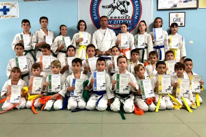okinawa karate - ju jitsu - apollofanous filoxenos zakynthos by dimitris panagiotopoulos - παράδοση ζωνών αύγουστος 2020